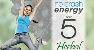 No Crash Energy from 5 Herbal Powerhouses
